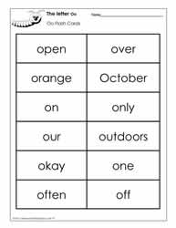 The Letter O Worksheets