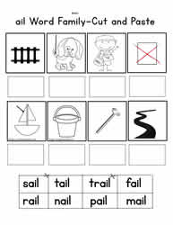 Ail Cut and Paste Worksheet