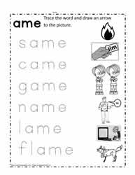 ame Words Worksheets