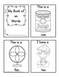 an Word Family Booklet