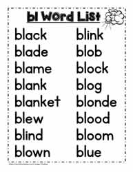 A bl Spelling List