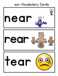 ear Word Family Worksheets