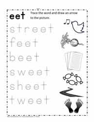 eet Word Family Worksheet