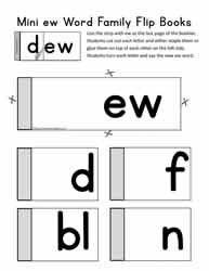 ew Word Family Flip Book
