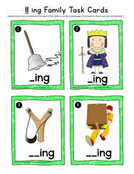 ing Rhyming Words Task Cards