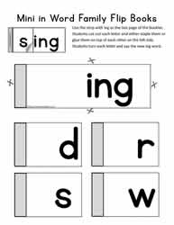 ing Words Mini Flip Book