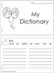 1st Grade Dictionary (26 Letter Booklet)
