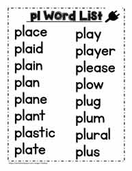 A pl Spelling List