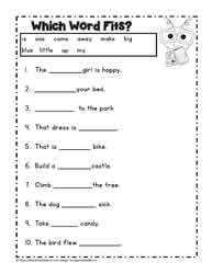 Sight Word Activities  Pre Primer