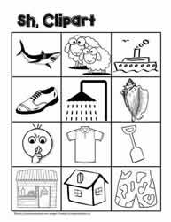 Clipart for sh Digraphs
