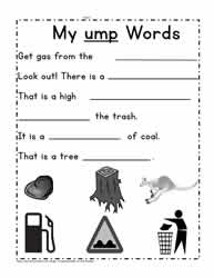 ump Word Family Sentences