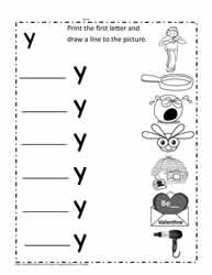 y Words Worksheet